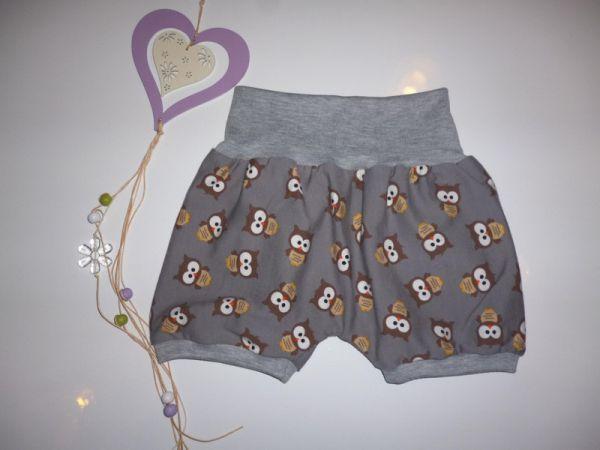 """♥Kurze Pumphose Sommer """"Little Owls"""" Jersey ♥"""