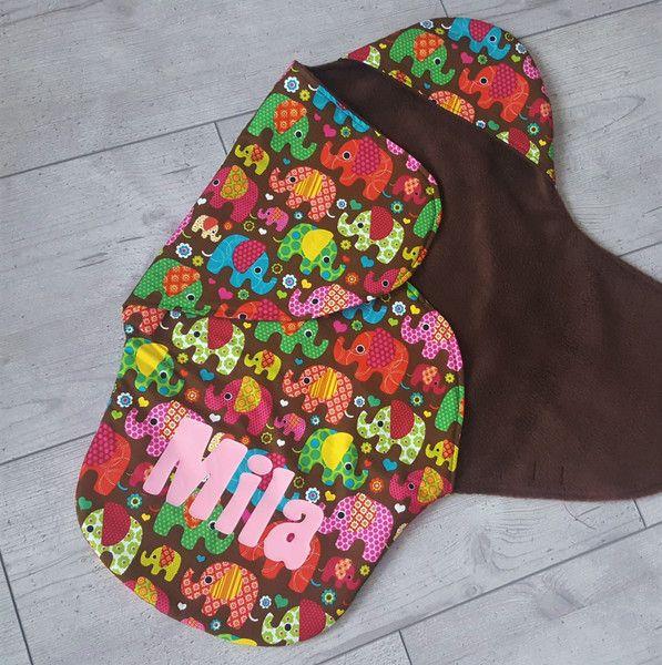 """♥ Einschlagdecke für Babyschale """"Elefanten""""♥"""