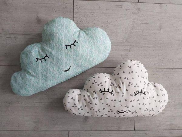 ♥ Wolkenkissen Kuschelkissen Cloud mint/weiß ♥