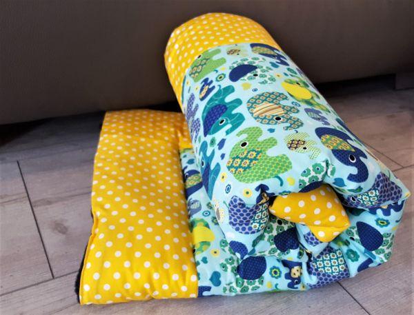 ♥ Babydecke Kuscheldecke *Elefantenparade* gelb ♥