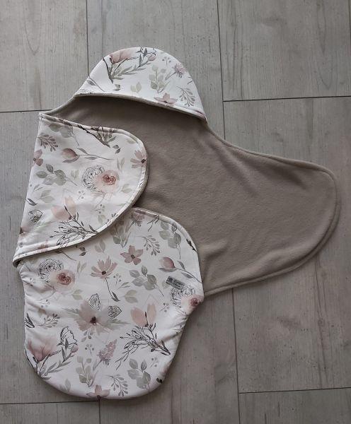 """♥ Einschlagdecke für Babyschale """"Magnolie"""" pastell ♥"""