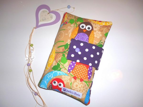 "♥ Windeltasche Wickeltasche ""What a hoot"" Eulen ♥"