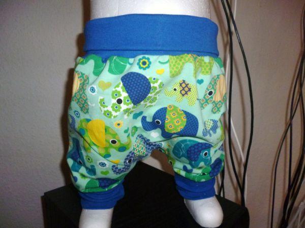 "♥ Pumphose ""Elefanten"" grün blau gelb Jersey ♥"