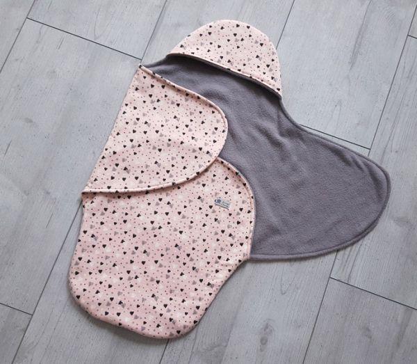 """♥ Einschlagdecke für Babyschale """"Herzchen""""♥"""