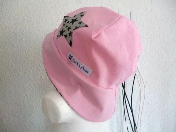 """♥ Sonnenhut Jersey """"rosa/grau ♥"""