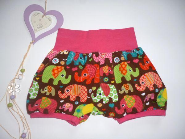 """♥Kurze Pumphose Sommer """"Elefanten braun"""" Jersey ♥"""