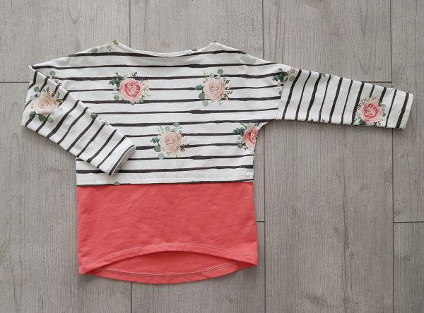 """♥ Oversize-Shirt """"Mila"""" Rosen Gr. 80-170 ♥"""