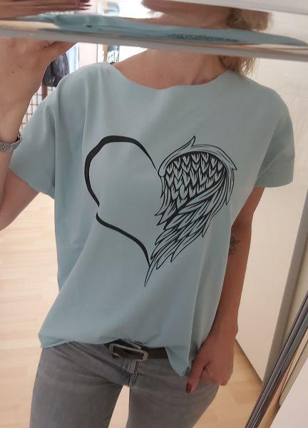 """♥ Frauen T-Shirt minze """"Herzensengel"""" Herz Engel Fashion ♥"""