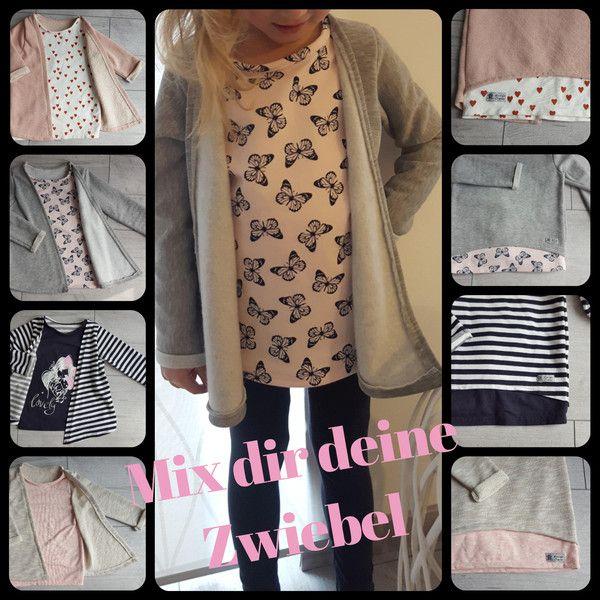"""♥ 2 in 1 Zwiebel (Jacke & Shirt) """"Gr. 80-164"""" ♥"""