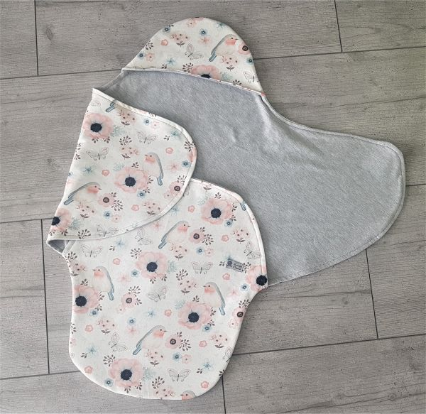 """♥ Einschlagdecke für Babyschale """"Lovely Birds"""" Sweat ♥"""