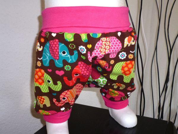 "♥ Pumphose ""Elefanten"" pink Jersey ♥"