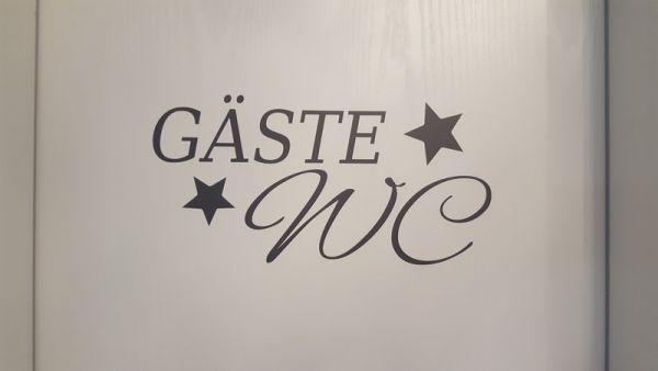 "♥ Türtattoo ""Gäste-WC"" Wandtattoo ♥"