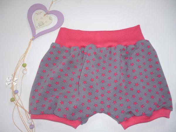 """♥Kurze Pumphose Sommer """"Pinke Sterne"""" Jersey ♥"""