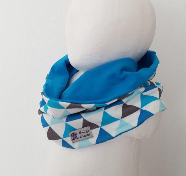 "♥ Loop / Schlauchschal ""Dreiecke blau"" ♥"