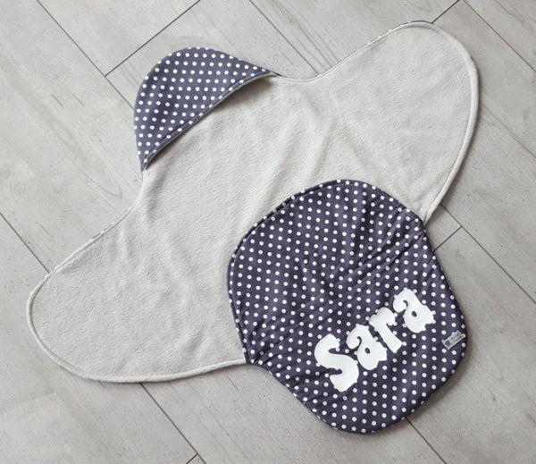 """♥ Einschlagdecke für Babyschale """"Grey Dots""""♥"""