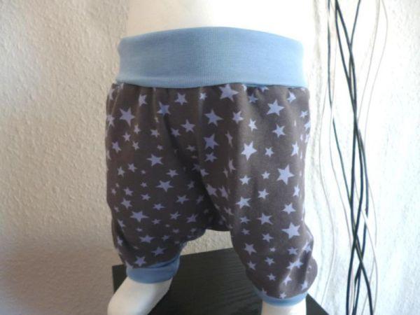 """♥ Pumphose """"Sterne grau/blau"""" Sterne Jersey ♥"""