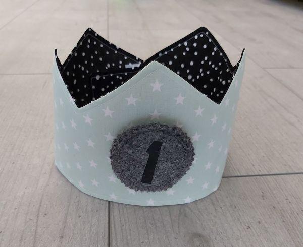 """♥ Immerwährende Geburtstagskrone 1-10 """"Sterne Mint"""" ♥"""