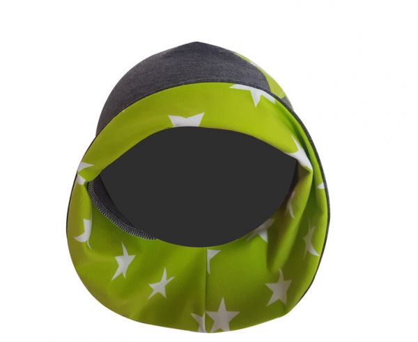 "♥ Sonnenhut Jersey ""dunkelgrau/Sterne grün"" ♥"